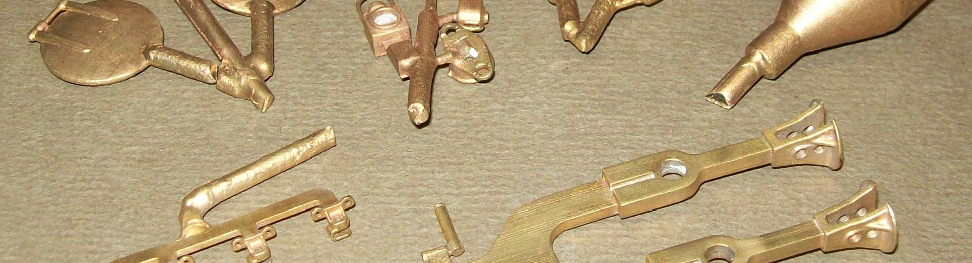 Brass castings made through our Rapid Prototyping process