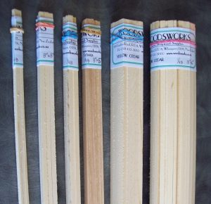 An order of strip wood packaged ready to deliver